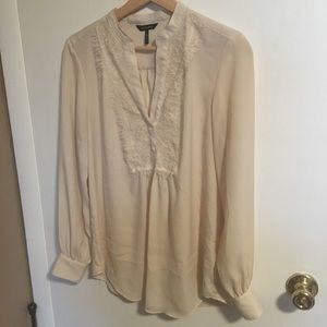 Cream Ivory Dress Blouse Daisy Fuentes